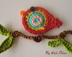 2 Crochet Hummingbird Appliques Magenta by CaitlinSainio on Etsy