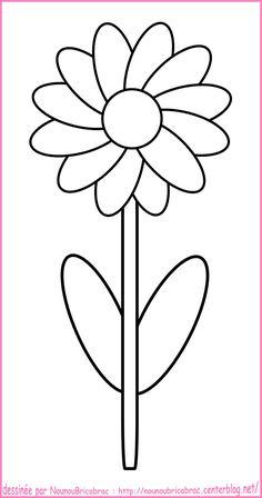 fleur coloriage simple