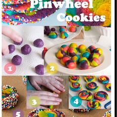 Easy Pinwheel Cookies | Easy to make pinwheel cookies add a lollipop stick and become cookie ...