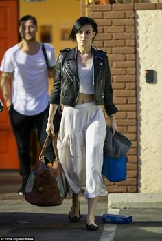 Toned: Rumer Willis showed off her supple physique as she left the Dancing With The Stars rehearsal studio on Wednesday afternoon