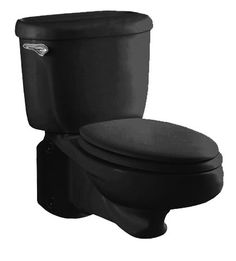 Black toilet | ... 2093.100.178 Glenwall Pressure Assisted Wall-Mounted Toilet, Black