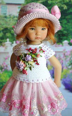 (99) Одноклассники Crochet Doll Clothes, Knitted Dolls, Girl Doll Clothes, Doll Clothes Patterns, Crochet Dolls, Doll Patterns, Girl Dolls, Pretty Little Girls, Sasha Doll