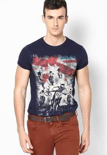 Stylish, Latest Fasionable & Well Designed Pepe Jeans Blue Crew Neck T Shirt men features product specifications, reviews, ratings, images, price chart and more to assist the user