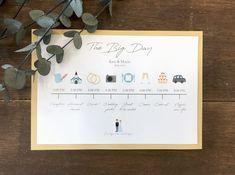 招待状と一緒に送りたい、ウェディングタイムラインの作り方【無料テンプレートつき】 / ペーパーアイテム 招待状 / WEDDING | ARCH DAYS Wedding Paper, Wedding Invitation Cards, Big Day, Wedding Photos, Creative, Party, Stationary, Mood, Weddings