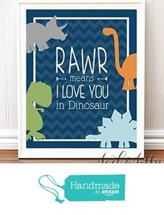 RAWR Means I love you in Dinosaur PRINT - Dinosaur Room - Chevron - Nursery Art from Jack & Jilly Designs http://www.amazon.com/dp/B0172RE3A6/ref=hnd_sw_r_pi_dp_vBLQwb11VMJFV #handmadeatamazon