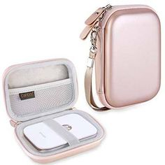 Canboc Shockproof Carrying Case Storage Travel Bag for Polaroid Snap & Polaroid Snap Touch, Polaroid Mint Pocket Printer, Instant Print Digital Camera Protective Pouch Box, Rose Gold - PhotoMania - Camera, Photo & Video Experts