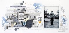 Black and White #LadyPatternPaper #BaicEssentials Layout