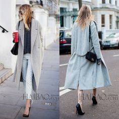 2016 Nouveau Design Hiver manteau femmes Gris/Noir Laine Manteau Trench Oversize Chaud manteau de Femmes De Mode Européenne Femmes de vêtements()