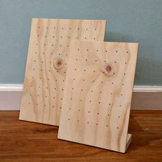 Wooden Earring Display Jewelry Stand by SavedIndustriesInc
