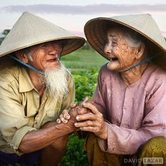 A photo of a lovely old couple from Hoi An, Vietnam, who still work each day on the farm outside their house. They have been married for 66 years. Thanks to Rehahn for his help and introducing me to this beautiful couple! You can see a behind-the-scenes video to this photo now on the David Lazar Photography Facebook page. #Vietnam #HoiAn