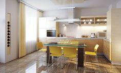 Buy Modern Kitchen Interior Render by auriso on PhotoDune. modern design of a kitchen interior render Modern Kitchen Interiors, Luxury Kitchen Design, My Home Design, Contemporary Kitchen Design, Luxury Kitchens, Kitchen Modern, Modern Design, L Shaped Kitchen Designs, Kitchen Designs Photo Gallery