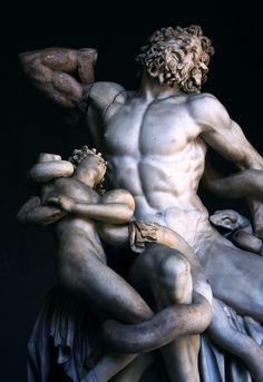 Laocoonte y sus hijos, Copia en mármol, 1620-1625, por Baccio Bandinelli, Galería de los Uffizi, Florencia, Italia