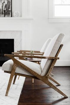 The Adalyn is a stunning Mid-Century Modern Accent Lounge Chair for your Living Room. The remarkably chic Adalyn modern lounge chair is inspired by the mid-century modern Selig Z chair. Plywood Furniture, New Furniture, Furniture Design, Modern Wood Furniture, Antique Furniture, Furniture Hardware, Furniture Storage, Outdoor Furniture, Accent Chairs For Living Room