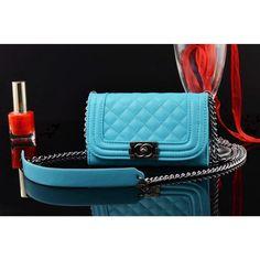 Coque cuir iPhone 6 Chanel,portefeuille pour iPhone6 4.7 pouce-bleu