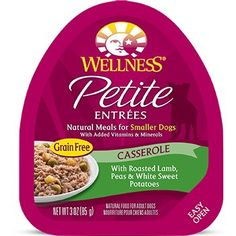 Wellness Petite Entrees Casserole Lamb, Peas and Sweet Potatoes Dog Food, 3 oz. Case of 24 -- Hurry! Check out this great product : Dog food types