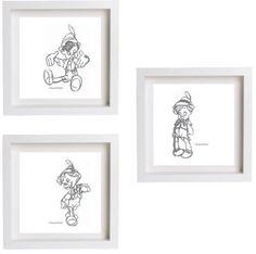 Cross stitch pattern Disney Pinocchio set of three Pinocchio