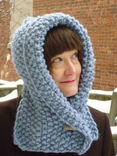 Ravelry: Quick Winter Hood pattern by Cecily Glowik MacDonald Crochet Hood, Crochet Yarn, Christmas Knitting Patterns, Crochet Patterns, Hood Pattern, Quick Knits, Seed Stitch, Arm Knitting, Knitting Designs