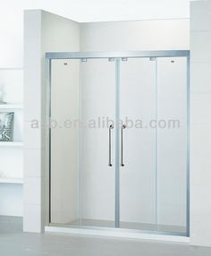 bright silver profile 5mm Tempered Glass bathroom bath shower screens
