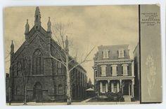 Methodist Church Parsonage POTTSTOWN PA Vintage Montgomery County Postcard