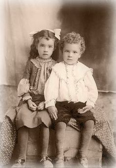 +~+~ Antique Photograph ~+~+    Adorable brother and sister