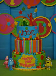 Yo Gabba Gabba party ideas- cake
