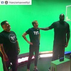 #Repost @francismaxwelltyt  Just a typical Thursday right @shaq ?  You won't want to miss this @monsterproducts commercial on @tytnetwork  #shaq #tyt #tytlive #monster #monsterproducts
