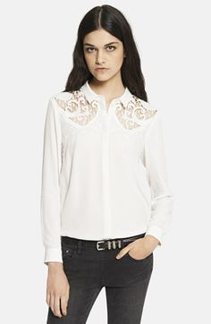 The Kooples Embroidered Yoke Silk Blouse available at #Nordstrom