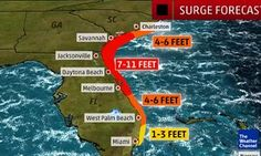 Forecast storm surges from the Weather Channel