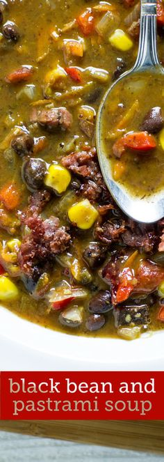 black bean and pastrami soup by Sam Henderson of Today's Nest