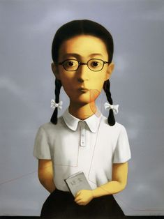 Big Family - Girl by #Chinese artist Zhang Xiaogang | #art #lithograph