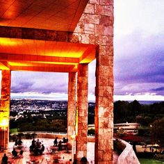 @genericsurplus Saturdays off the 405 at the Getty. Enjoying the view while we wait for @coldcave to start playing. (Taken with instagram)