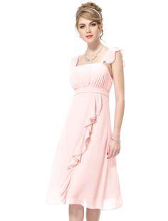 Ever Pretty Falbala Ruffles Calf-length Summer Bridesmaid Dress 03337 - Listing price: $109.99 Now: $29.99  #Ever-Pretty
