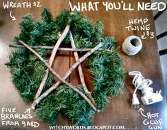 Tutorial: How to Make a Pentacle Wreath by Witchy Words