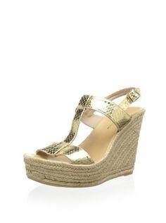 c303f1ada9ca 60% OFF Delman Women s Trish Platform Sandal (Gold Metallic Snake) Sandaler  Outfit