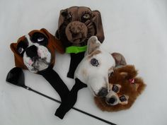Custom made golf club covers - 4 dogs portraits - balance
