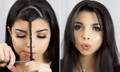 Make-up artists viral video reveals how to create bangs in seconds