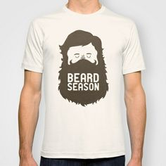 Beard Season T-shirt by Chase Kunz - $22.00