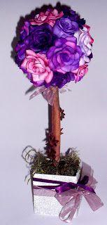 Topiaria de Mini Rosas  Simone Uller Rosas Artesanais