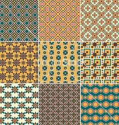 Geometric Pattern set vector by Favete on VectorStock®