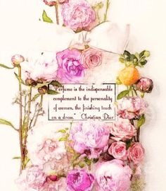 Perfume, the Finishing Touch: A Watercolor Fashion Fine Art Print with Christian Dior Perfume Quote, Home Decor for the Fashionista Maria Jose, Christian Dior Perfume, Perfume Quotes, Vegan Perfume, Watercolor Fashion, Vintage Bottles, Everything Pink, Office Art, Vintage Advertisements