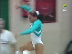 WOGymnastika: The World's Most Difficult Vault In Slow Motion (GIF)