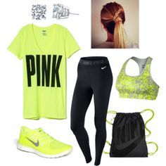 Vicki meets Nike....It's all about the neon green.