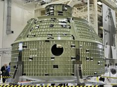 Pressure shell: Nasa's new Orion spacecraft at Kennedy Space Center. In the next 18 months the shell will be packed with avionics, instrumentation an flight computers