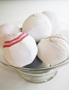 balls made from antique linen kitchen cloth lestoilesblanches.com