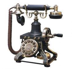 Vintage Phone Paris Eiffel Tower Brass 1892 Replica Functional Chic Elegant New #Ericsson