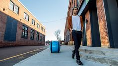 The company behind the Vespa scooter has made its first move into autonomous transportation with a robotic personal helper that carries your belongings.