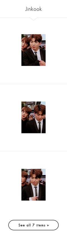 """Jinkook"" by lostfishess ❤ liked on Polyvore featuring bts"