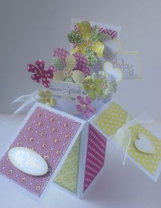 Card designed by Julie Hickey using Flower Shop Pop Up Boxes.