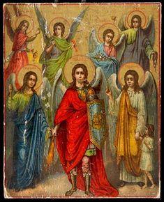 Arcángel Miguel y los ángeles, colección particular