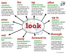 #Look + #preposition, #phrasal #verbs, Your Skype School material, #фразальные #глаголы, #английский язык
